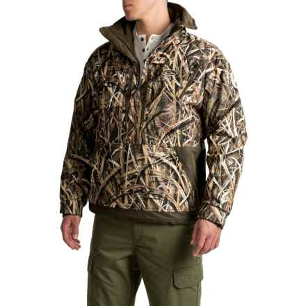 Drake MST Fleece-Lined Camo Jacket - Zip Neck (For Men) in Mossy Oak Shadow Grass Blades - Closeouts