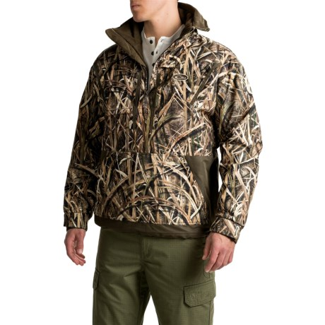 Drake MST Fleece-Lined Camo Jacket – Zip Neck (For Men)