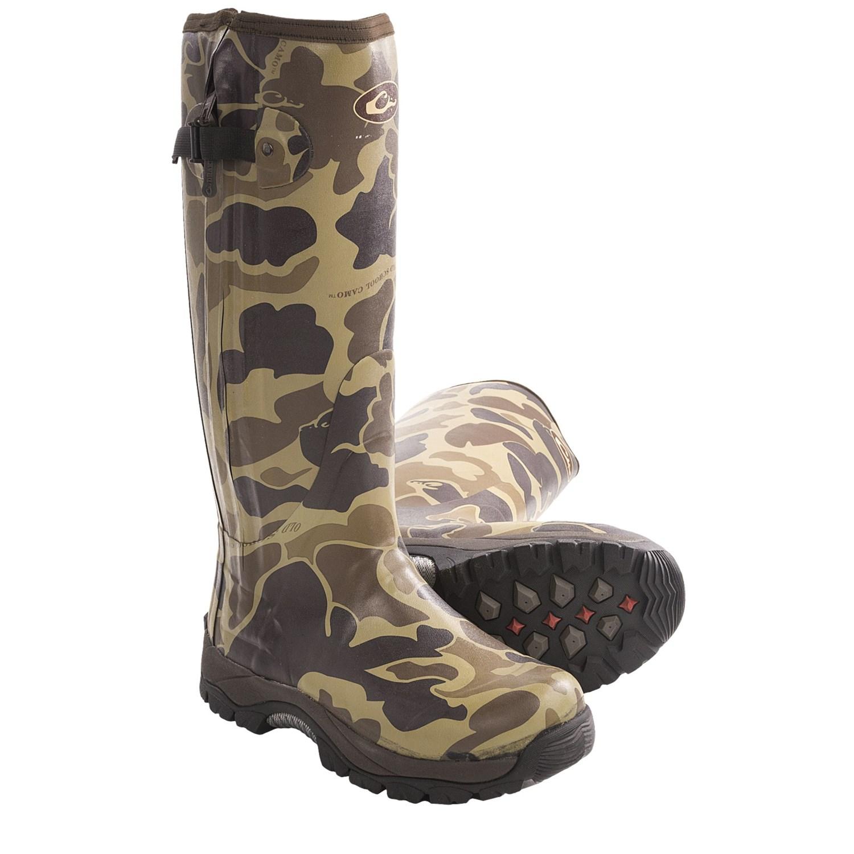 mst side zip camo knee high mudder rubber boots