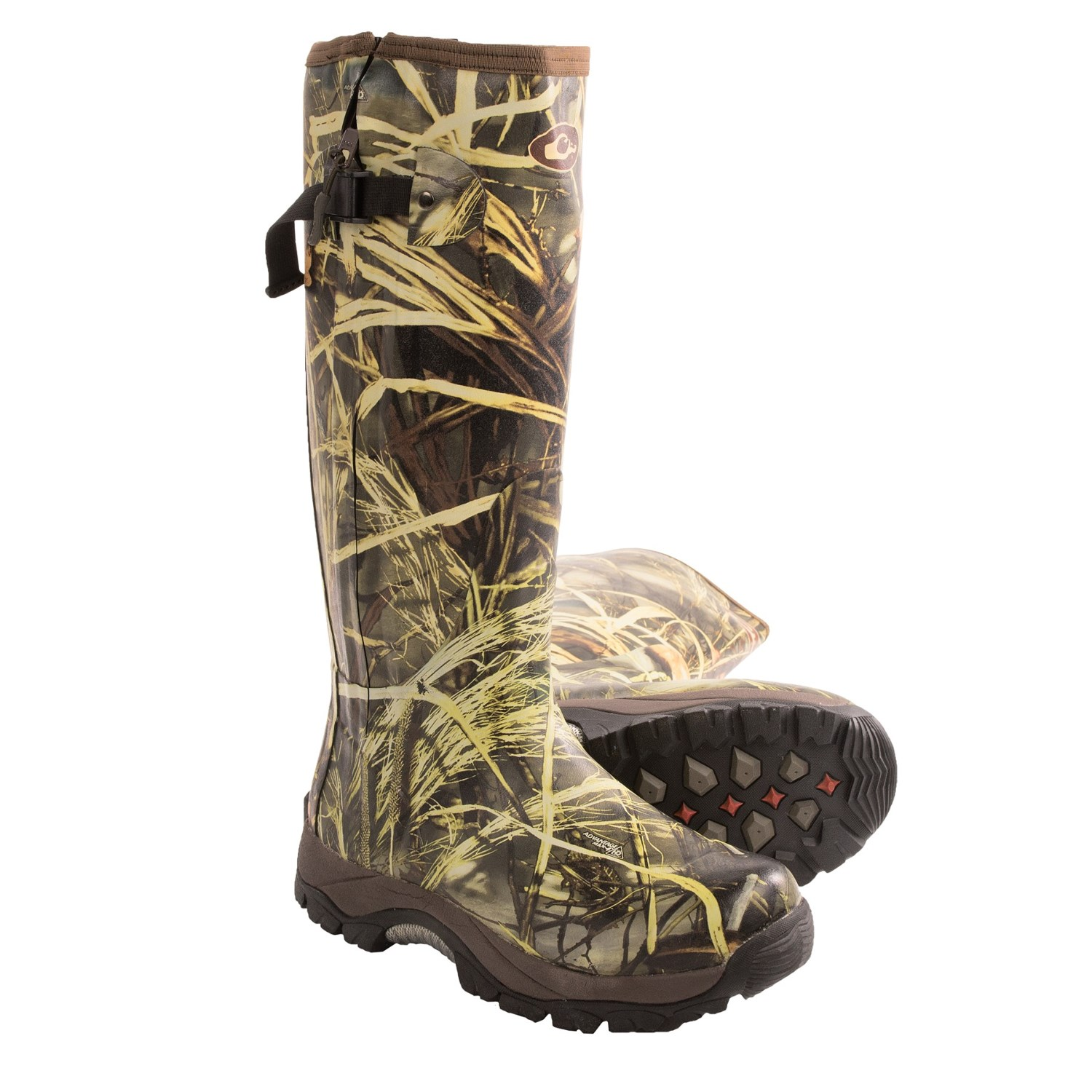 Drake Mst Side Zip Camo Knee High Mudder Rubber Boots