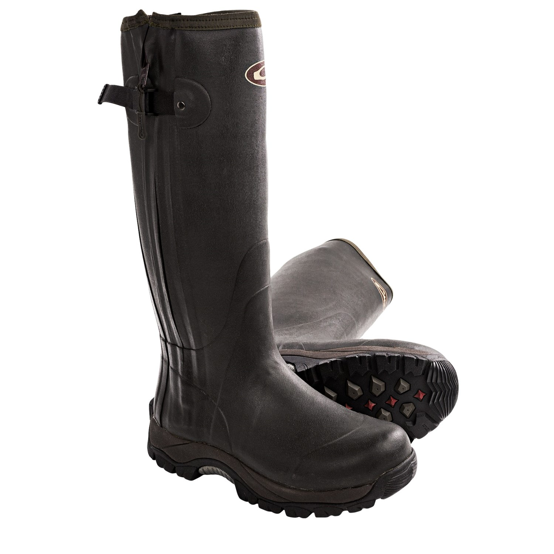 mst side zip knee high mudder rubber boots
