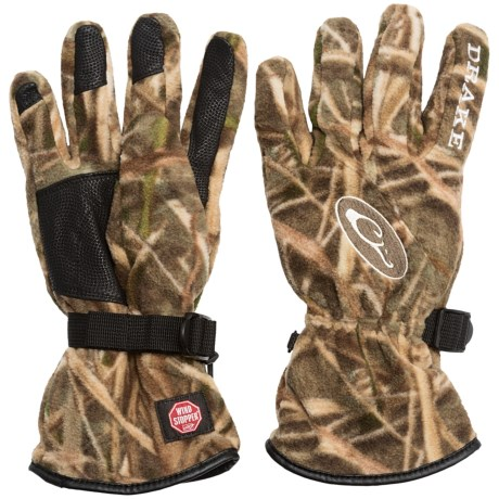 Drake MST Windstopper® Fleece Gloves (For Men) in Mossy Oak Shadow Grass Blades