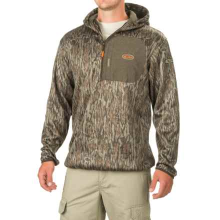 Drake Non-Typical Endurance Hoodie - Zip Neck (For Men and Big Men) in Mossy Oak Bottomland - Closeouts