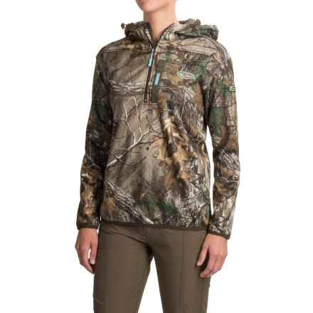 Drake Non-Typical Endurance Pullover Hoodie - Zip Neck (For Women) in Realtree X-Tra - Closeouts