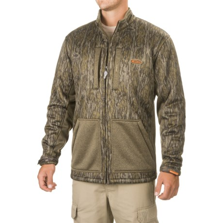 Drake Non-Typical Silencer Soft Shell Jacket (For Men and Big Men) in Mossy Oak Bottomland