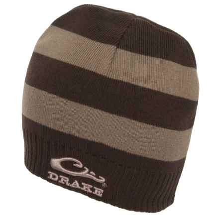 Drake Striped Knit Beanie (For Men) in Brown/Tan - Closeouts