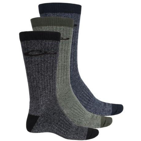 Drake Ultra-Dri® Boot Socks - 3-Pack, UltraSpun® Cotton Blend, Crew (For Men) in Dark Olive/Navy/Black