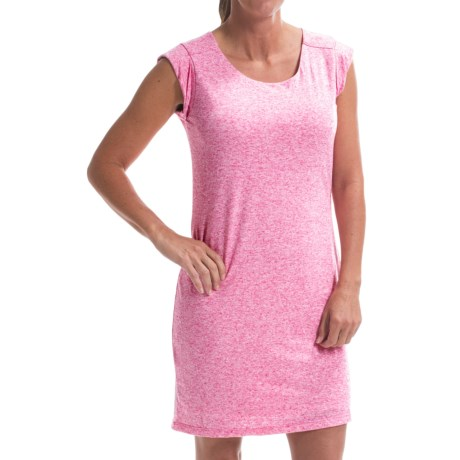 Drape Back Dress Short Sleeve (For Women)