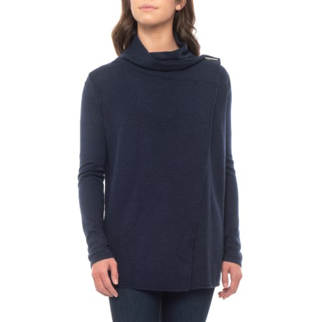 Image of Drape Neck Cardigan - Merino Wool (For Women)