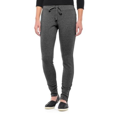 Drawstring Waist Knit Stretch Pants (For Women) in Charcoal