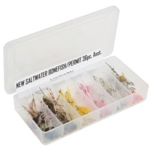 Dream Cast 2012 Saltwater Bone Fish/Permit Fly Assortment - 3 Dozen in See Photo - Closeouts