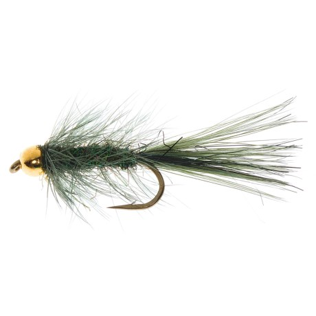Dream Cast Bead Head Baby Bugger Nymph Fly - Dozen in Olive