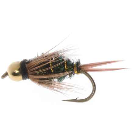 Dream Cast Bead Head GB Prince Nymph Fly - Dozen in Natural - Closeouts