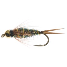 Dream Cast Bead Head Ice Peacock Prince Nymph Fly - Dozen in Peacock - Closeouts