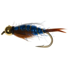 Dream Cast BH Tung Ice Prince Nymph Fly - Dozen in Blue - Closeouts