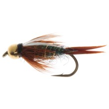 Dream Cast BH Tung Ice Prince Nymph Fly - Dozen in Peacock - Closeouts