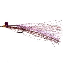 Dream Cast Deep Minnow Flies - Dozen in Red/White - Closeouts