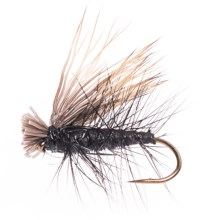 Dream Cast Foam Body Elk Hair Caddis Dry Flies - Dozen in Black - Closeouts