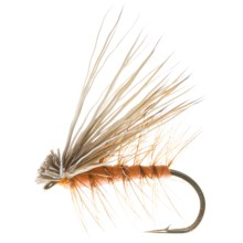 Dream Cast Foam Body Elk Hair Caddis Dry Flies - Dozen in Orange - Closeouts