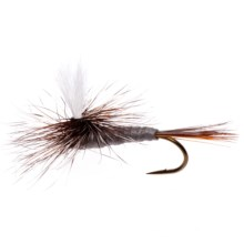 Dream Cast Foam Parachute Adams Dry Fly - Dozen in Grey - Closeouts