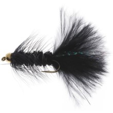 Dream Cast GB Wooly Bugger Streamer Flies - Dozen in Black - Closeouts