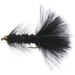 Dream Cast GB Wooly Bugger Streamer Flies - Dozen in Black