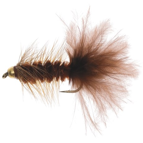 Dream Cast GB Wooly Bugger Streamer Flies - Dozen in Brown