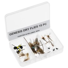 Dream Cast Genesis Dry Fly Assorted Flies - 15-Piece in See Photo - Closeouts