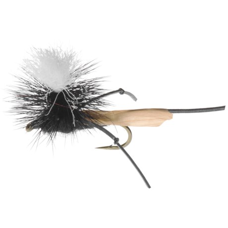 Dream Cast High and Dry Parachute Cricket Fly - Dozen in Black