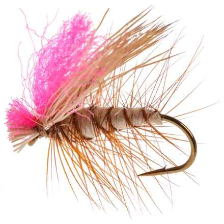 Dream Cast High-Vis Elk Wing Caddis Dry Fly - Dozen in Tan - Closeouts
