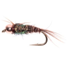 Dream Cast Pheasant Tail Ice Flashback Gold Bead Head Nymph Fly - Dozen in Natural - Closeouts