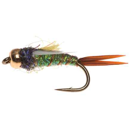 Dream Cast Psycho Prince Nymph Fly - Dozen in Caddis Green - Closeouts