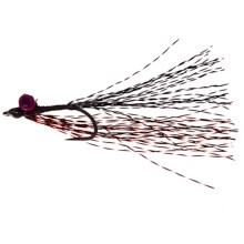 Dream Cast Saltwater Deep Minnow Flies - Set of12 in Red/Black - Closeouts