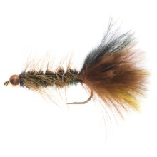 Dream Cast Thin Mint Bead Head Streamer - Dozen in Peacock - Closeouts