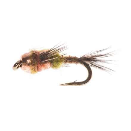 Dream Cast Two Bit Hooker Copper Bead Dry Fly - Dozen in Light Olive - Closeouts