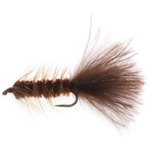 Dream Cast Wooly Bugger Streamer Fly - Box of 12 in Brown - Closeouts