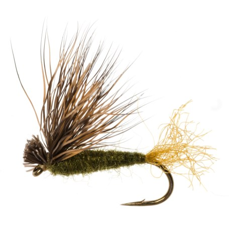 Dream Cast X Caddis Dry Fly - Dozen in Olive