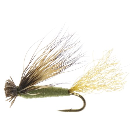 Dream Cast X-Caddis Foam Dry Fly - Dozen in Olive