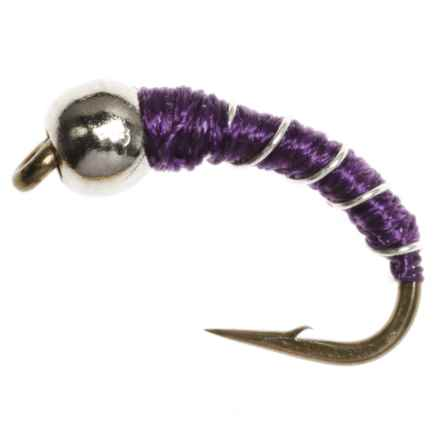 Dream Cast Zebra Midge Nymph Fly - Dozen in Purple - Closeouts