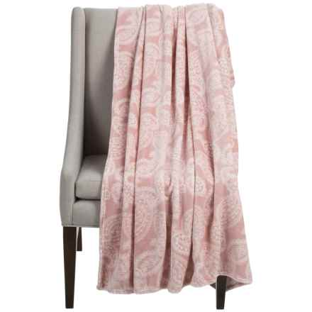 "Dream Home Alice Oversized Chenille Throw Blanket - 60x70"" in Blush - Closeouts"