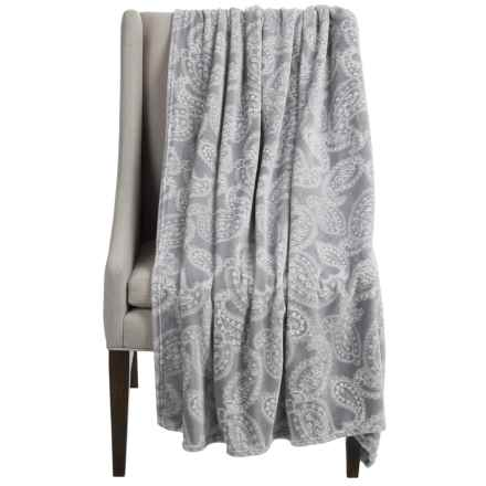 """Dream Home Alice Oversized Chenille Throw Blanket - 60x70"""" in Grey - Closeouts"""