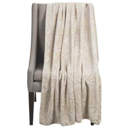 "Dream Home Alice Oversized Chenille Throw Blanket - 60x70"" in Ivory - Closeouts"