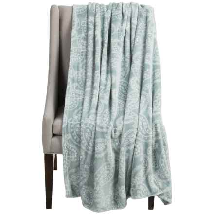 "Dream Home Alice Oversized Chenille Throw Blanket - 60x70"" in Mineral - Closeouts"