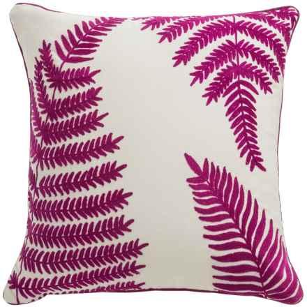 "Dream Home Fargo Cypress Embroidered Throw Pillow - 20x20"" in Fuschia - Closeouts"