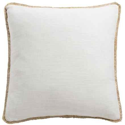 "Dream Home Freda Chenille Pillow - 20x20"" in Ivory - Closeouts"