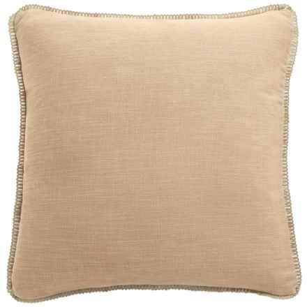 """Dream Home Freda Chenille Pillow - 20x20"""" in Linen - Closeouts"""