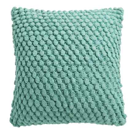 """Dream Home Knotted-Knit Throw Pillow - 20x20"""" in Mineral - Closeouts"""