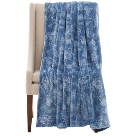 "Dream Home Printed Plush Denim Throw Blanket - 60x70"" in Denim"