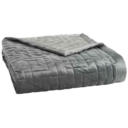 Dream Home Quilted Birdwood Blanket - King in Grey - Closeouts