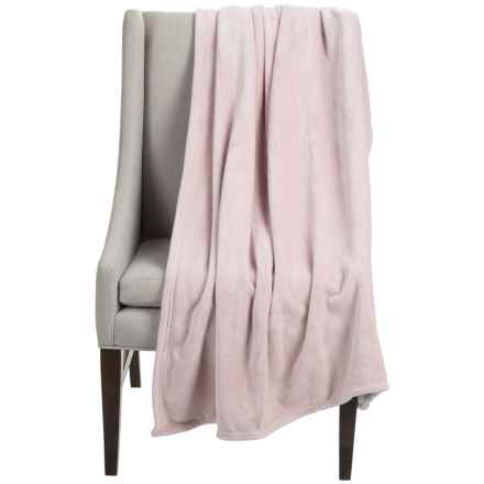 """Dream Home Super-Plush Oversized Throw Blanket - 50x70"""" in Blush - Closeouts"""